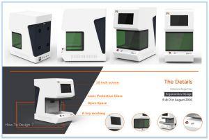 20W Fiber Laser Marking Machine Table Type Laser Marking Machine pictures & photos