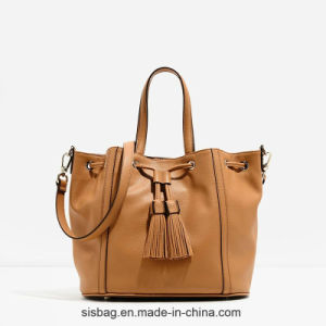 High Quality PU Tassel Hobo Bag for Women pictures & photos