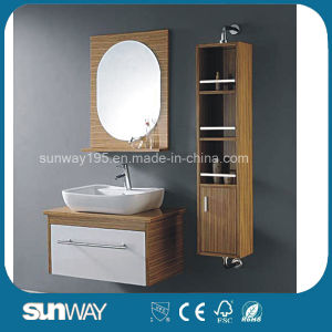 2015 New Design Melamine Bathroom Furniture with Side Cabinet pictures & photos