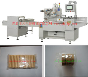 Three Servo Motor Control Automatic Biscuit Packaging Machine pictures & photos