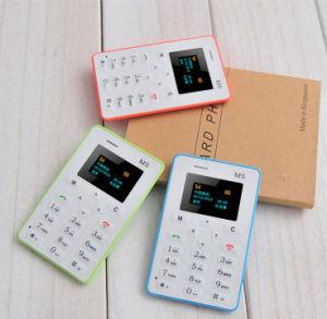 Low Price M5 Ultra Thin Pocket Card Mobile Phone pictures & photos