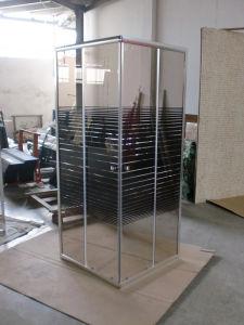 Bathroom Corner Sliding White Black Line Glass Shower Box 90 pictures & photos