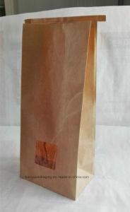 Take Away Kraft Paper Grocery Bag Food Paper Carry Bag Popcorn Bag pictures & photos