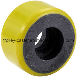 PU on Iron Caster Wheel (yellow wheel) pictures & photos