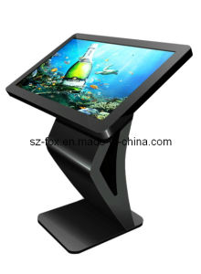 Touch All in One PC with Foot Table, Floor Standing Ad Player, Kiosk pictures & photos