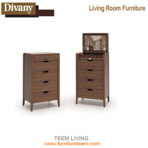 Rattan Living Room Wooden TV Cabinet Designs with Showcase pictures & photos