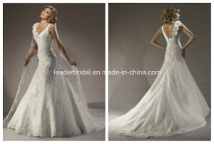 New Sweetheart Bridal Gown Lace Applique Wedding Dress Yao80 pictures & photos