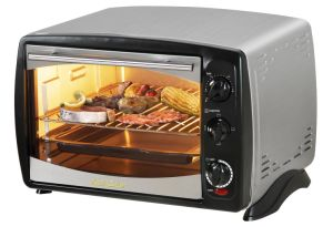 Stainless Steel Electric Toaster Oven with 1380W, Convection and Rotisserie Function, Indicator Light, Competitive Price