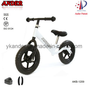 Patent White Kid Pre Bike (AKB-1209)