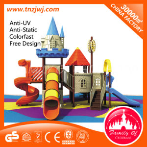 Eco-Friendly Kids Park Playground Equipment with Plastic Slides pictures & photos