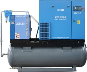 11kw Compact Screw Air Compressor with Dryer pictures & photos