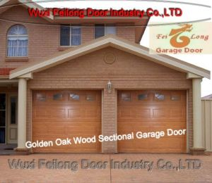Remote Control Golden Oak Color Garage Door --- European Union CE Approved