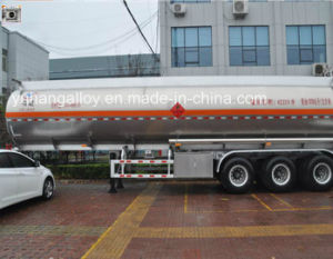 3 Alxes 41.8 Cbm Carton Stainless Steel Fuel Tanker Trailers