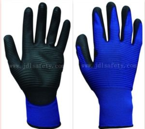 Blue Structured Work Glove with PU Dipping (PN8020-15) pictures & photos