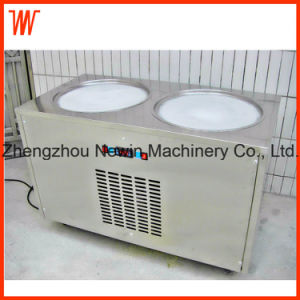 Double Pan Commercial Fried Ice Cream Machine Price pictures & photos