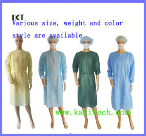 Dustproof Non Woven Surgical Gowns Disposable for Hospital Isolate Blood pictures & photos