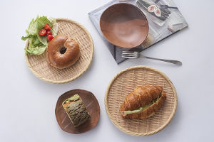 Melamine Wooden Like Rectangle Dish/Sushi Plate/Dinner Plate (NK13811-09) pictures & photos