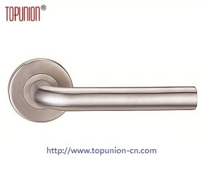 Grade4 Stainless Steel Tube Lever Door Handle (TLH002) pictures & photos