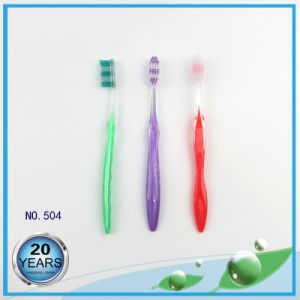 Transparent PS Handle Adult Toothbrushes pictures & photos