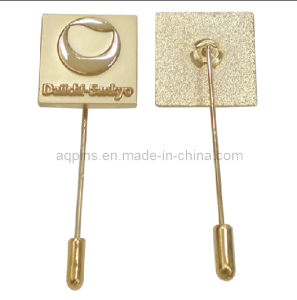 High Quality Brass Sandblasting Stick Pin Badge with Needle (badge-102) pictures & photos