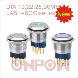 Onpow 25mm Push Button Switch (GQ25 SERIES) pictures & photos