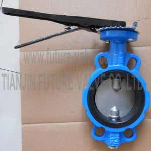 Wafer Pinless Butterfly Valve with Two Stem Multi Drilling (D71X-10/16)