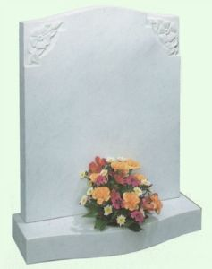 UK Style White Marble Tombstone (BF-0627-01)
