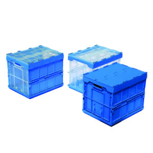 L400xw300xh325mm Folding Plastic Storage Box pictures & photos
