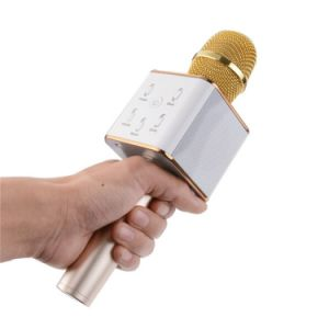 Q7 Wireless Bluetooth Metal Handheld Microphone + Speaker Karaoke Sing New
