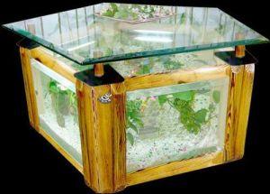 Glass Tea Table Aquarium/Decorative Tea Table Fish Tank/Acrylic Fish Tank (1.1m*1.1m*0.51m)