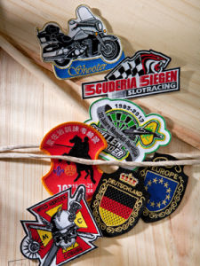 Embroidered Badges with Cutting Border pictures & photos