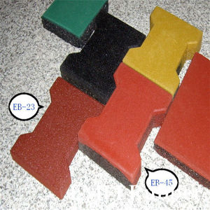 Dogbone Rubber Flooring Tiles/Horse Stable Rubber Tiles/Horse Rubber Brick pictures & photos