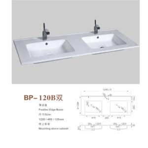 High Quality Thin Edge Modern Cabinet Basin Double Vanity Basin Bathroom Sink