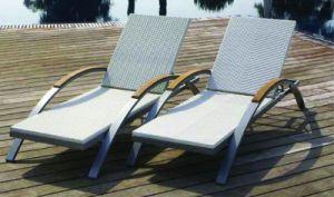 Alu. Wood Beach Chair (17269)