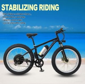 "26*4"" Tire 250W to 500W Power Assist Bicycle Sandbeach Bike 48V Lithium Battery pictures & photos"