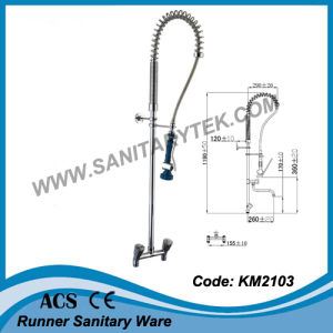 Deck Mounted Pre-Rinse Kitchen Sink Faucet (KM2102) pictures & photos