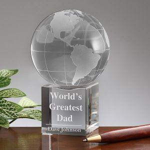 Glass Globe Award Crystal Glass Earth Globe pictures & photos