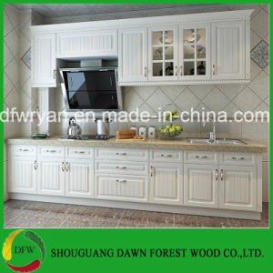 PVC Kitchen Cabinet Designs From Dawn Forest Wood Kitchen Furniture Kitchen Cabinet Factory Price Kitchen Cabinet pictures & photos