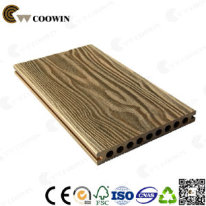 Modern Hollow 3D Embossing WPC Decking Floor pictures & photos