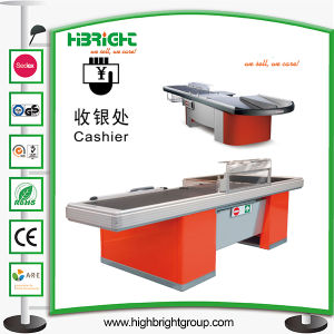 Supermarket Cash Checkout Counter with Gate pictures & photos