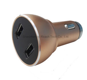 QC 2.0 Dual USB Car Charger Quick Charge Portable Travel Car Charger Car Safety Hammer Cigarette Charger with LED Display pictures & photos