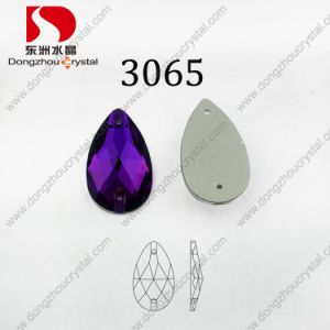 New Style Drop Amethyst Crystal Decorative Clothing Stones pictures & photos
