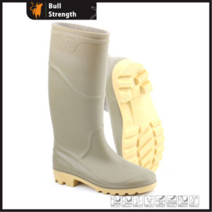 Grey PVC Rain Boots with Steel Toe Cap (Sn5222) pictures & photos