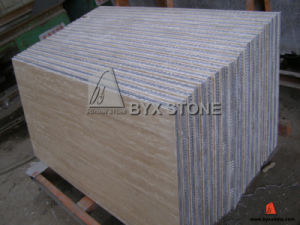 Beige Travertine Stone Aluminium Honeycomb Panel for Wall Tile pictures & photos
