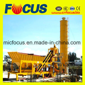 25m3/H-120m3/H Portable Concrete Batching Plant with Wheels pictures & photos