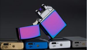 Ocityttimes Fashionable Electronic Double Arc USB Lighter with Logo Printing pictures & photos