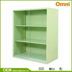 Office Vertical Storage Cabinet with Glass Sliding Doors (OMNI-YY-03) pictures & photos