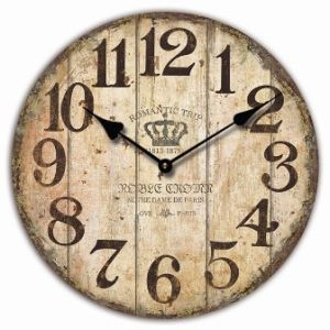 French Countryside Vintage Dazzle Printing Wooden Clock pictures & photos