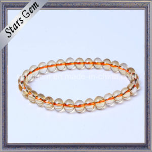 Good Qualiry Fashion Yellow Quartz Citrine Beads Jewelry Bracelet pictures & photos