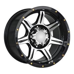 Black Machine Face Golden Rivets Alloy Wheels pictures & photos